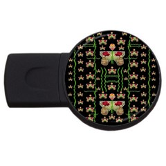 Roses In The Soft Hands Makes A Smile Pop Art Usb Flash Drive Round (4 Gb)