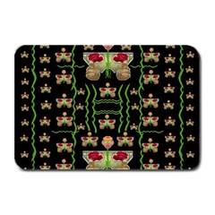 Roses In The Soft Hands Makes A Smile Pop Art Plate Mats