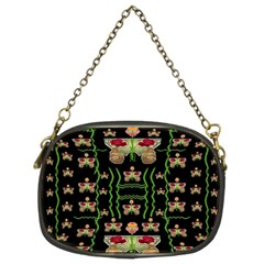 Roses In The Soft Hands Makes A Smile Pop Art Chain Purses (two Sides)
