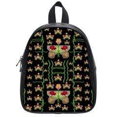 Roses In The Soft Hands Makes A Smile Pop Art School Bag (small)