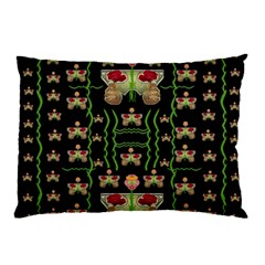 Roses In The Soft Hands Makes A Smile Pop Art Pillow Case (two Sides)