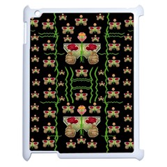 Roses In The Soft Hands Makes A Smile Pop Art Apple Ipad 2 Case (white)