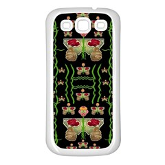 Roses In The Soft Hands Makes A Smile Pop Art Samsung Galaxy S3 Back Case (white)