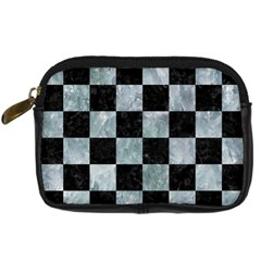 Square1 Black Marble & Ice Crystals Digital Camera Cases