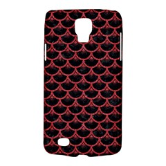 Scales3 Black Marble & Red Denim (r) Galaxy S4 Active