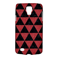 Triangle3 Black Marble & Red Denim Galaxy S4 Active
