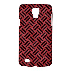 Woven2 Black Marble & Red Denim Galaxy S4 Active