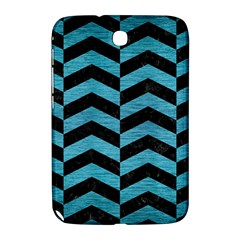 Chevron2 Black Marble & Teal Brushed Metal Samsung Galaxy Note 8 0 N5100 Hardshell Case