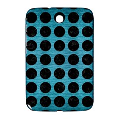Circles1 Black Marble & Teal Brushed Metal Samsung Galaxy Note 8 0 N5100 Hardshell Case