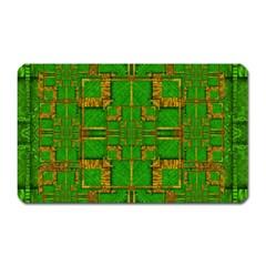 Golden Green And  Sunshine Pop Art Magnet (rectangular)