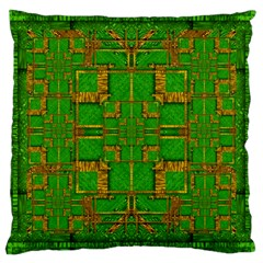 Golden Green And  Sunshine Pop Art Large Cushion Case (two Sides)