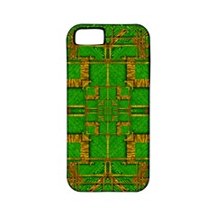 Golden Green And  Sunshine Pop Art Apple Iphone 5 Classic Hardshell Case (pc+silicone)