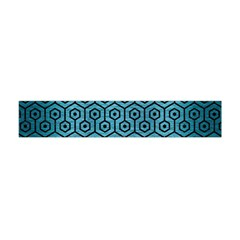 Hexagon1 Black Marble & Teal Brushed Metal Flano Scarf (mini)