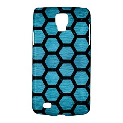 Hexagon2 Black Marble & Teal Brushed Metal Galaxy S4 Active