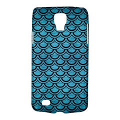Scales2 Black Marble & Teal Brushed Metal Galaxy S4 Active