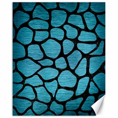Skin1 Black Marble & Teal Brushed Metal (r) Canvas 16  X 20