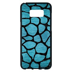 Skin1 Black Marble & Teal Brushed Metal (r) Samsung Galaxy S8 Plus Black Seamless Case
