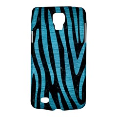 Skin4 Black Marble & Teal Brushed Metal Galaxy S4 Active