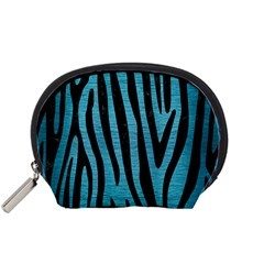 Skin4 Black Marble & Teal Brushed Metal (r) Accessory Pouches (small)
