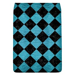 Square2 Black Marble & Teal Brushed Metal Flap Covers (s)