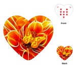 Arrangement Butterfly Aesthetics Orange Background Playing Cards (Heart)  Front