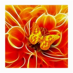 Arrangement Butterfly Aesthetics Orange Background Medium Glasses Cloth (2 Side)