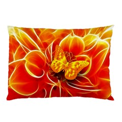 Arrangement Butterfly Aesthetics Orange Background Pillow Case (two Sides)