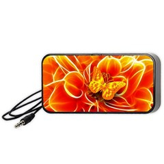 Arrangement Butterfly Aesthetics Orange Background Portable Speaker