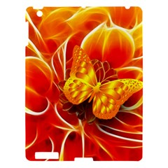 Arrangement Butterfly Aesthetics Orange Background Apple Ipad 3/4 Hardshell Case