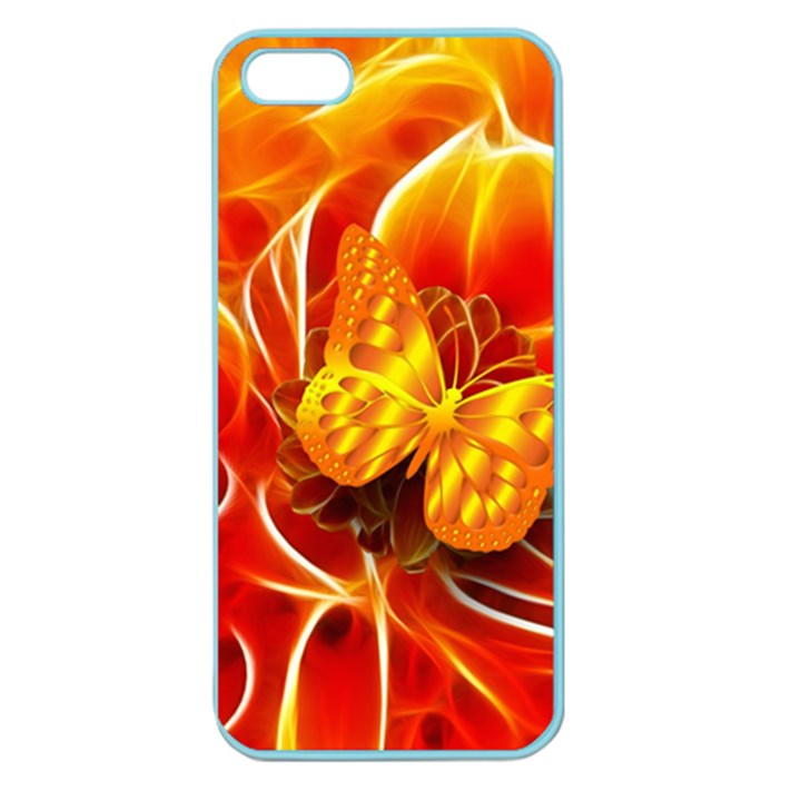 Arrangement Butterfly Aesthetics Orange Background Apple Seamless iPhone 5 Case (Color)