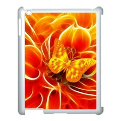 Arrangement Butterfly Aesthetics Orange Background Apple Ipad 3/4 Case (white)
