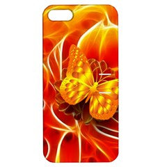 Arrangement Butterfly Aesthetics Orange Background Apple Iphone 5 Hardshell Case With Stand