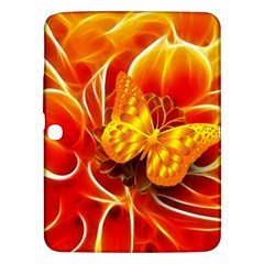 Arrangement Butterfly Aesthetics Orange Background Samsung Galaxy Tab 3 (10 1 ) P5200 Hardshell Case