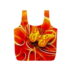 Arrangement Butterfly Aesthetics Orange Background Full Print Recycle Bags (s)
