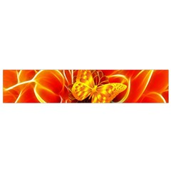 Arrangement Butterfly Aesthetics Orange Background Small Flano Scarf