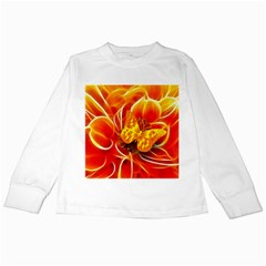 Arrangement Butterfly Aesthetics Orange Background Kids Long Sleeve T Shirts