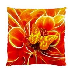 Arrangement Butterfly Aesthetics Orange Background Standard Cushion Case (two Sides)