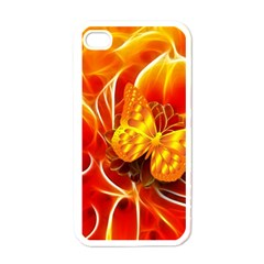 Arrangement Butterfly Aesthetics Orange Background Apple Iphone 4 Case (white)