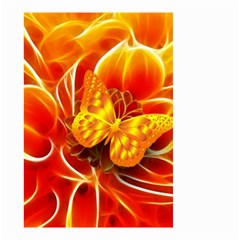 Arrangement Butterfly Aesthetics Orange Background Small Garden Flag (two Sides)