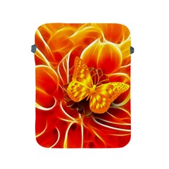 Arrangement Butterfly Aesthetics Orange Background Apple Ipad 2/3/4 Protective Soft Cases
