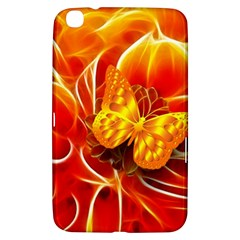 Arrangement Butterfly Aesthetics Orange Background Samsung Galaxy Tab 3 (8 ) T3100 Hardshell Case
