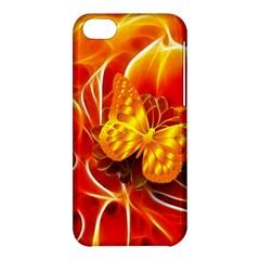 Arrangement Butterfly Aesthetics Orange Background Apple Iphone 5c Hardshell Case