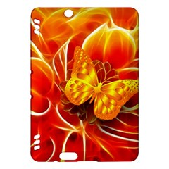 Arrangement Butterfly Aesthetics Orange Background Kindle Fire Hdx Hardshell Case