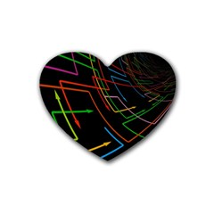 Arrows Direction Opposed To Next Rubber Coaster (heart)