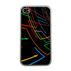 Arrows Direction Opposed To Next Apple Iphone 4 Case (clear)