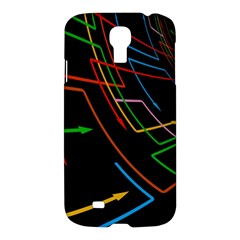 Arrows Direction Opposed To Next Samsung Galaxy S4 I9500/i9505 Hardshell Case
