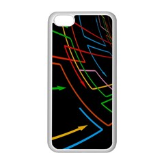 Arrows Direction Opposed To Next Apple Iphone 5c Seamless Case (white)