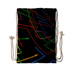 Arrows Direction Opposed To Next Drawstring Bag (small)
