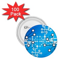 Block Chain Data Records Concept 1 75  Buttons (100 Pack)