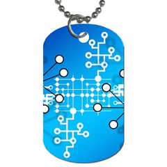 Block Chain Data Records Concept Dog Tag (one Side)
